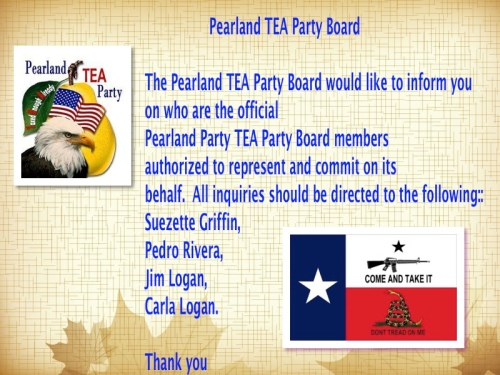 Pearland TEA Party Board