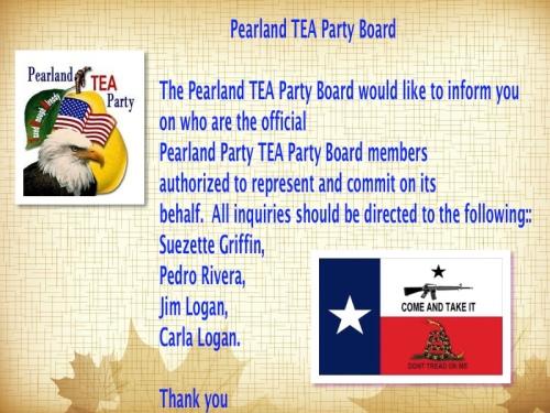 Pearland TEA Party Board