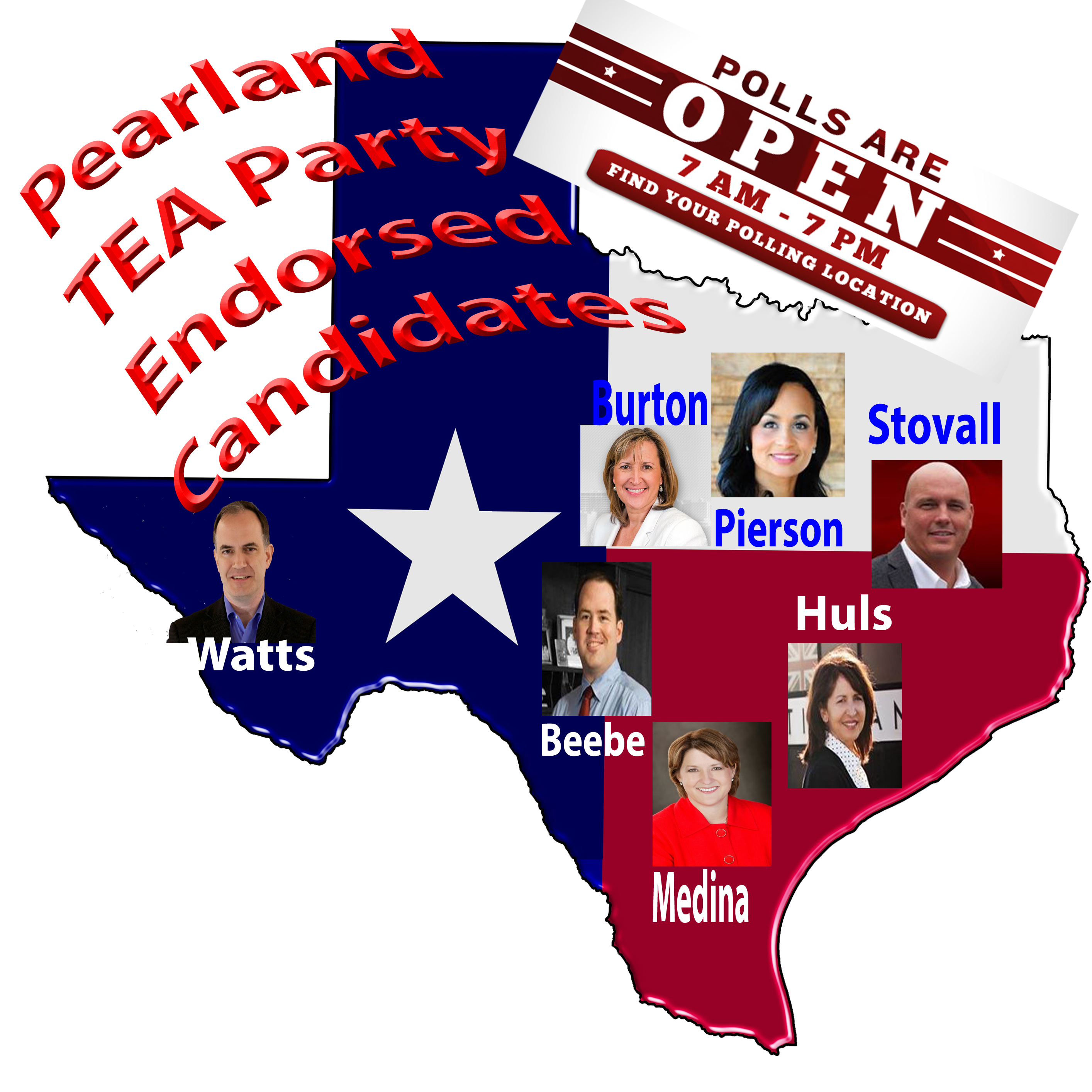 Pearland TEA Party 2014 Primary Endorsed Candidates!
