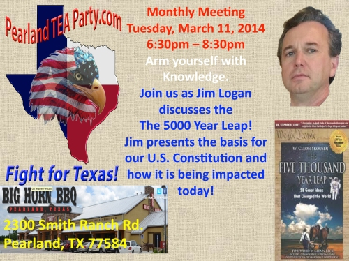 March 2014 Pearland TEA Party Meeting