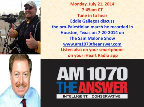 Eddie Gallegos on The Sam Malone Show 7-21-2014