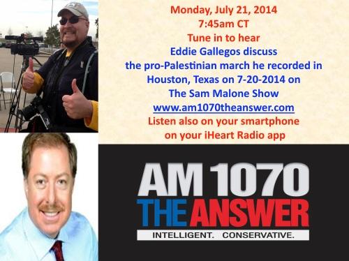 Eddie Gallegos on The Sam Malone Show 7-21-2014