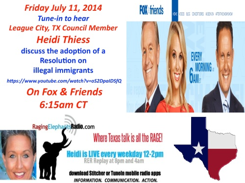 Heidi on Fox and Friends July 11, 2014