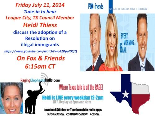 Heidi on Fox and Friends July 11, 2014